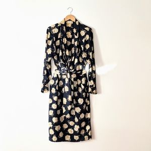 Vintage Max Mara Two Piece Wrap Dress Set
